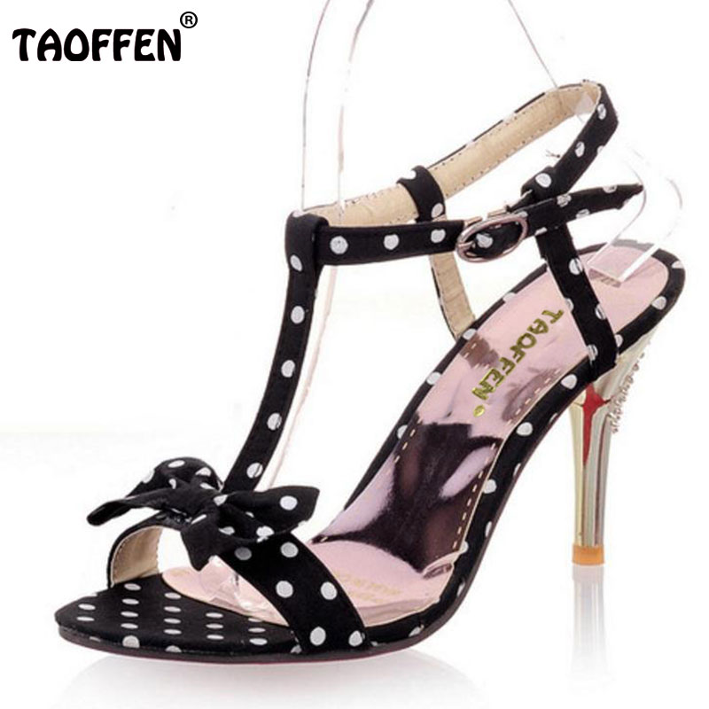 TAOFFEN NEW high heel sandals footwear fashion women dress sexy slippers shoes P5661 EUR size 31-47 coolcept women high heel sandals platform fashion lady dress sexy slippers heels shoes footwear p3795 eur size 34 43