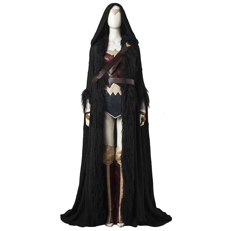 Wonder Woman Cosplay Costume Diana Prince Cosplay Full Set Superhero Halloween Party Women Sexy Costume Custom Made With Cloak