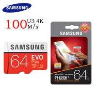 SAMSUNG Micro SD o pojemności 32 GB EVO Plus 64 GB karty pamięci Class10 128 GB microSDXC U3 UHS-I 256 GB TF karty 4 K HD do tabletu Smartphone itp