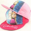 2015 nueva gorra de algodón apresurado muchachas de los niños de un tamaño ocasionales Snapback Caps la gorros de niños, de dibujos animados, y la princesa