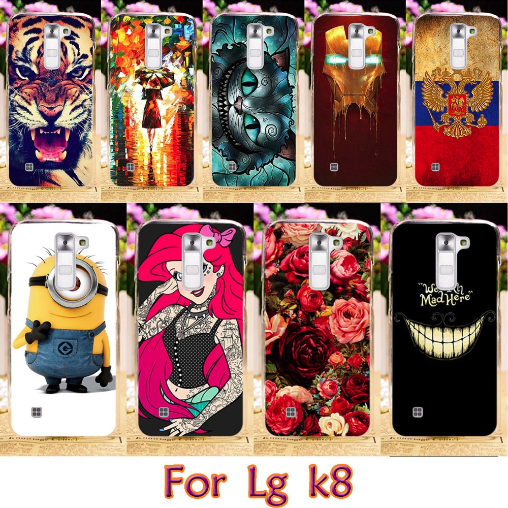 AKABEILA Soft TPU Phone Case For LG K350ds K Series K8 LTE K350 PHOENIX 2 K371 Escape 3 K373 K350E K350N 5.0 inch Cover