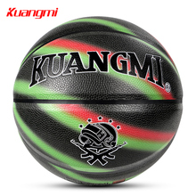 Kuangmi New Camouflage Street Basketball Ball soft PU Official Size 7 Original Freestyle Game Basketball for Indoor Outdoor kuangmi 2018 black white pu leather basketball ball new youths street game training basketball size 7 indoor and outdoor