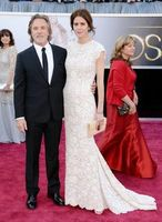 Evening Long 2013 85th Annual Academy Awards Kelley Phleger Cap Sleeves White Lace Oscar Celebrity Red