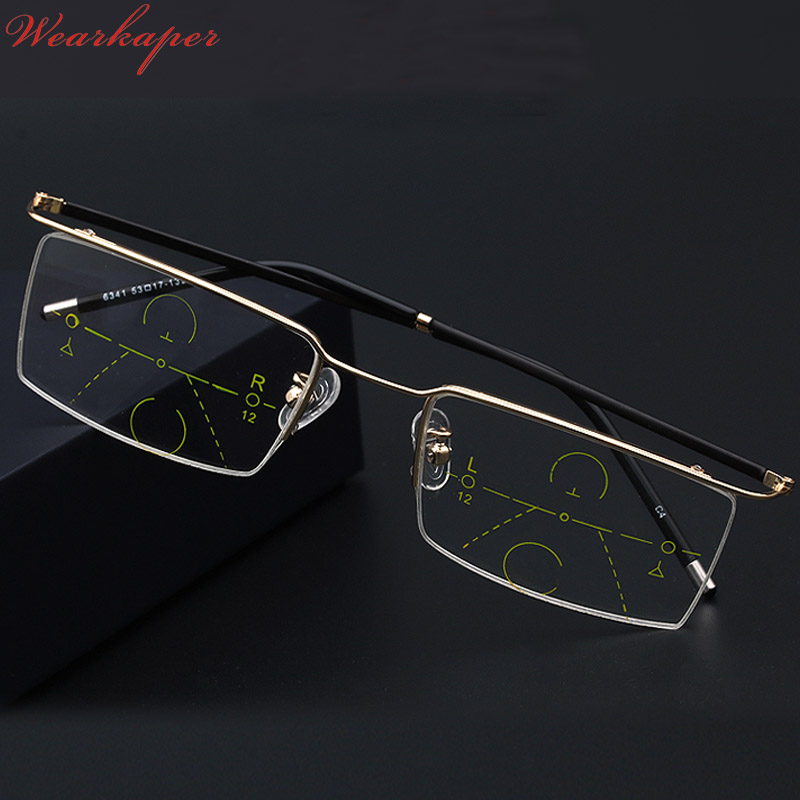 72adf2b570 Photochromic + Progressive Multifocal Multifocus Reading Glasses Transition  Sunglasses Men Eyewear Hyperopia Presbyopia Oculos