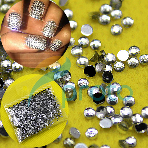 20,000pcs 2.0mm CLEAR ROUND RHINESTONES NAIL ART diamante ...