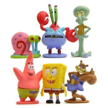 Lot 6 Figurines Personnages Bob L'éponge