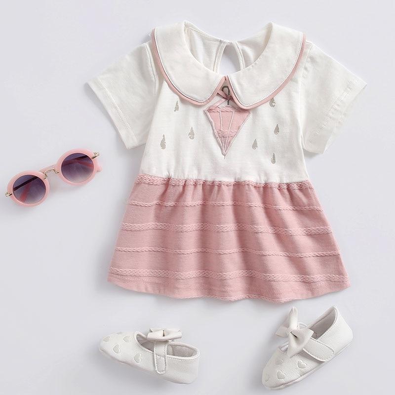 Baby girl clothes 2018 bebe dress cotton Peter pan Collar kids dresses for girls 1 year birthday roupas infant girls dress