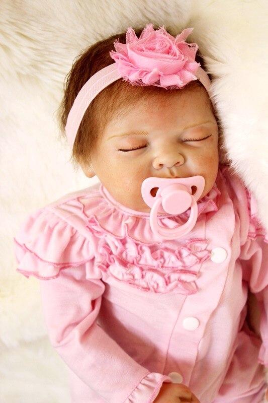 22 pouces Baby Doll En Vinyle Souple En Silicone Réel Tactile Nouveau-Né princesse bebes reborn fille jouets bonecas lol originaux poupée de couchage