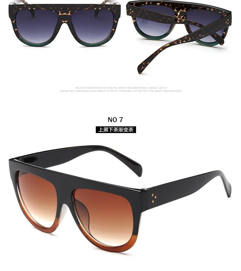 81492ab0b1 Kim Kardashian gafas de sol señora plana Top gafas Sqaure Lunette mujeres  marca de lujo gradiente lentes gafas de sol Overisze femenino oculos