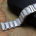 Белые керамические Ремешки для наручных часов 20 мм 22 мм  металлическая пряжка из нержавеющей стали  высококачественные аксессуары для часо...