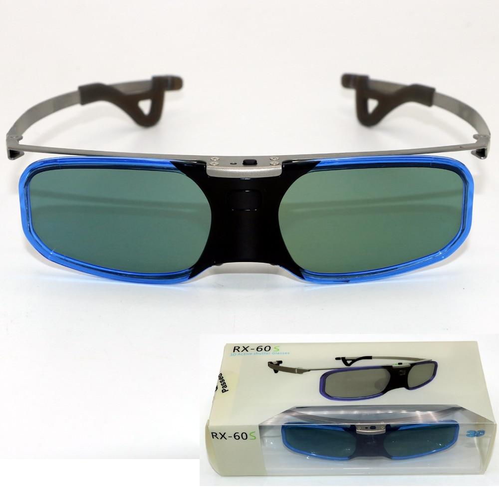 4Pcs Bluetooth active shutter 3D glasses+myopia clip for Samsung Sony W807C LG