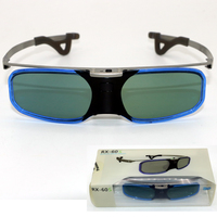 5PCS Bluetooth Active Shutter 3D Glasses With Myopia Clip For Samsung Sony LG 3D TV EPSON
