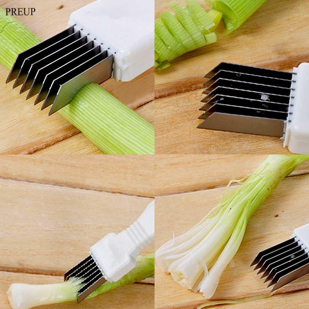 PREUP Stainless Steel Scallion Onion Vegetable Shredder Slicer Cutter Kitchen Gadget
