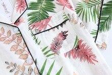 Palm Leaf Printed Elastic Pajamas for Women