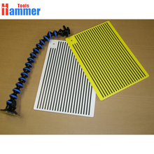 Hammer tools Super White and Yellow PDR KING Lined Dent Board - Reflector Board - Replaces Portable Dent Light
