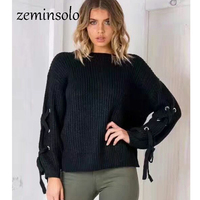 Knitted Pullovers Women 2017 Autumn Winter Long Sleeve O Neck Women S Sweater Female Warm Sexy