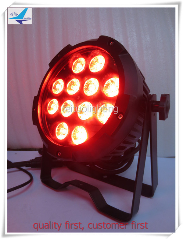 A- 10X high power led par can 12x18w RGBAW + UV 6-in-1 LED Outdoor Par Lighting Fixture 10CH
