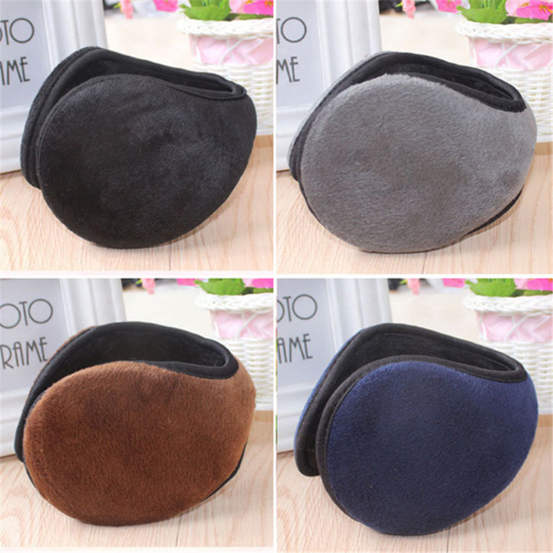 Winter Pure Color Fashionable Male And Female General Thickening Ear Protectors Bag Student Warm Ear Mask Gift