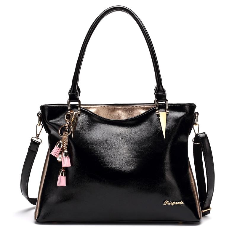 Luxury Brand Women Bags 2017 Fashion Tassel Genuine Leather Handbags Designer Women Messenger Bag For Girls Crossbody Bag T13