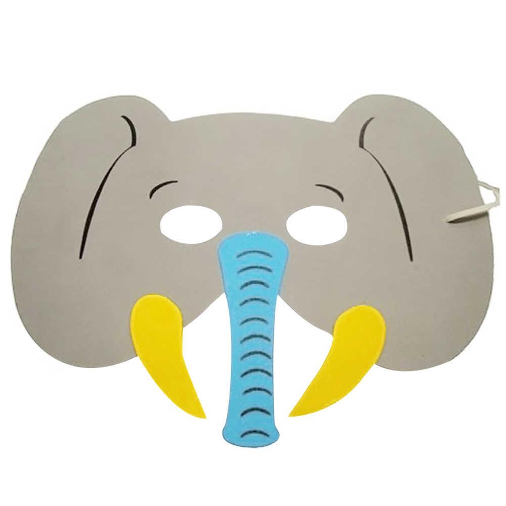 10 шт. DIY маска фото стенд реквизит EVA пены маски животных мальчик девочка день рождения закрытые вечерние украшения