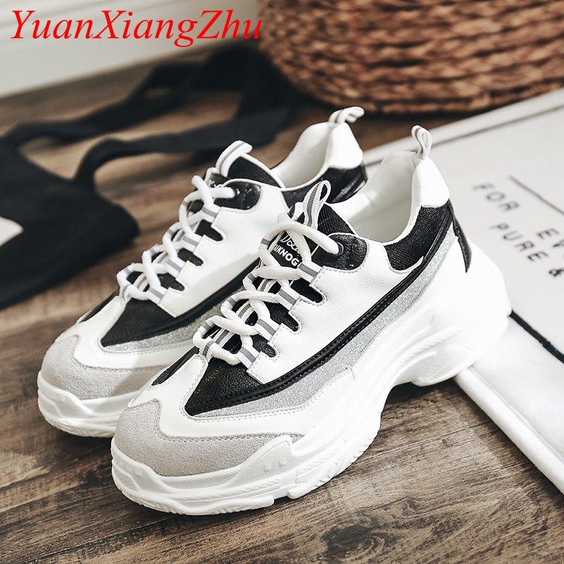 Women's Shoes Korean Harajuku ulzzang Casual Shoes 2018 Spring New Fashion White Platform Shoes Hot Comfortable Flat Women Shoes spring and autumn new women fashion shoes casual comfortable flat shoes women large size pure color shoes