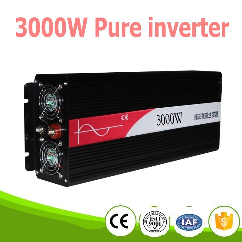 цена на 3000W pura sinus inverter Pure sine wave inverter 3000W 12V to 220V CE ROHS, PV Solar Inverter, Car Inverter Converter