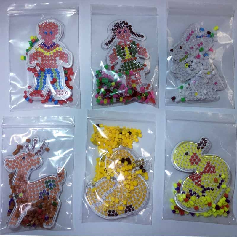 4 kom Puzzle Pegboards Uzorci s obojenim papirom Za 5mm Hama Perler - Igre i zagonetke - Foto 1