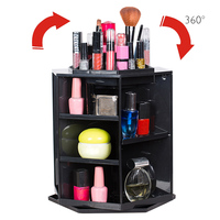 NC 360 Degree Rotating Makeup Organizer Jewelry Box Cosmetic Storage Display Make Up Rack Beauty Care