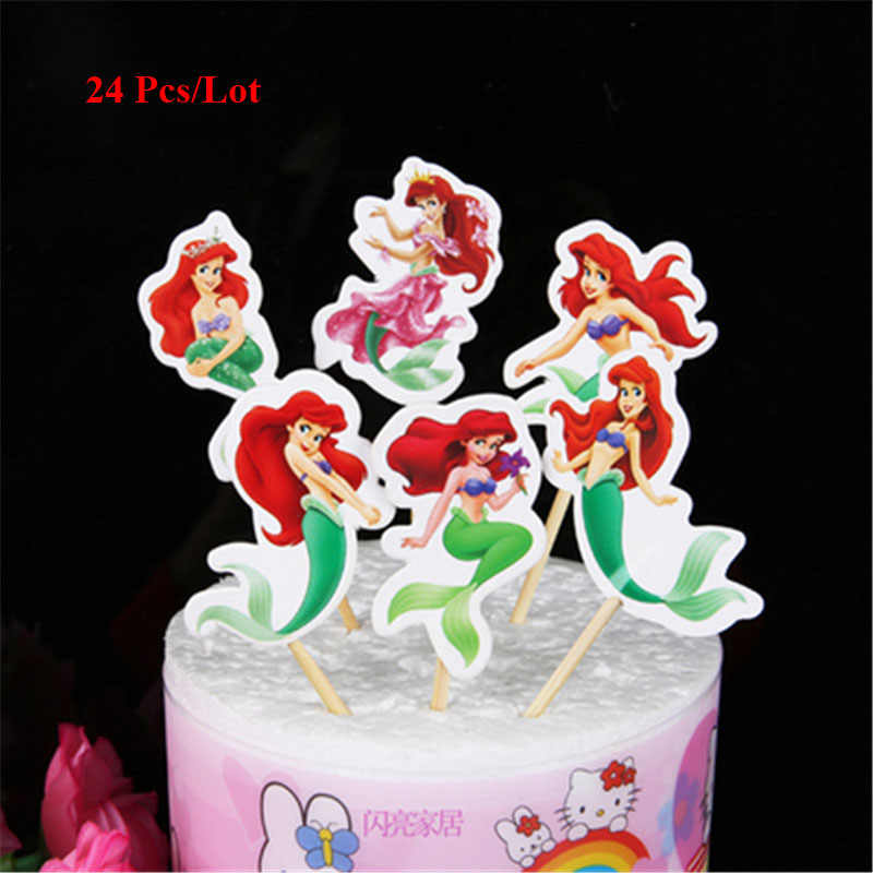 Holiday Decorations Girls Birthday Gift Topper Little Mermaid Party Princess Adult Toys Cake