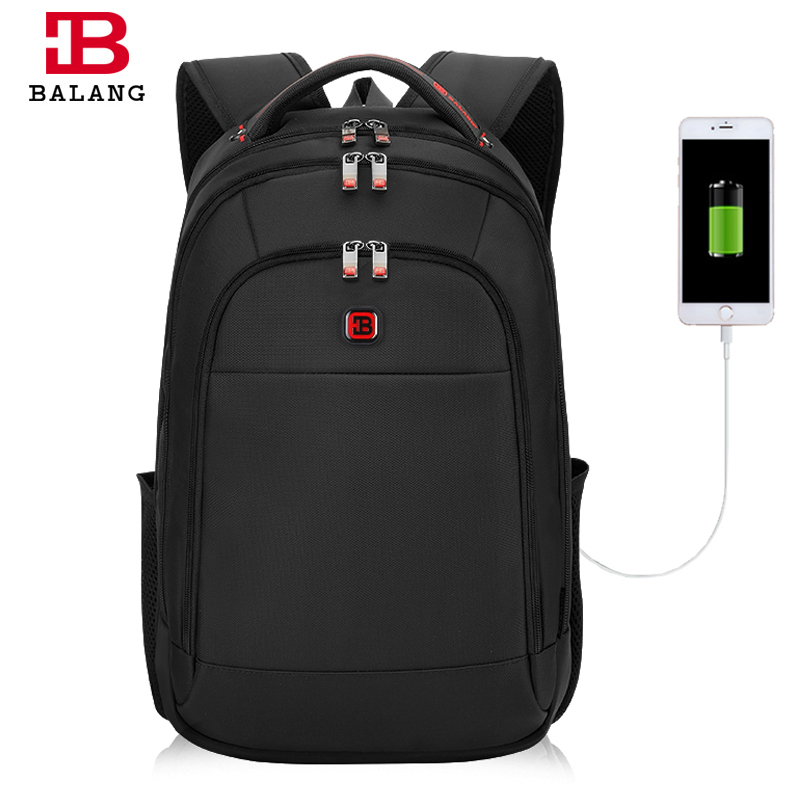 Balang Men's Anti-thief Waterproof Backpack For 15.6 Inch Laptop Unisex With USB Interface School Multi Function Travel Bag new anime gravity falls bill school backpack usb charge interface laptop travel bag unisex black shoulder travel bags