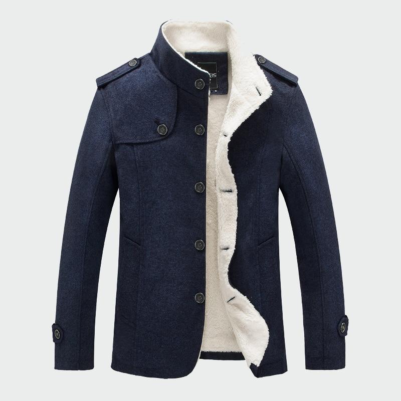 Winter Men Coat Fashion Fleece Lined Thick Warm Woolen Coats Autumn Overcoat  Male Wool Blend Jackets Men's Brand Clothing ML048|Wool & Blends| -  AliExpress