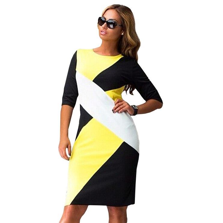 28a121df97 High quality 2018 new fashion plus size OL dress 3XL-6XL half sleeves o-
