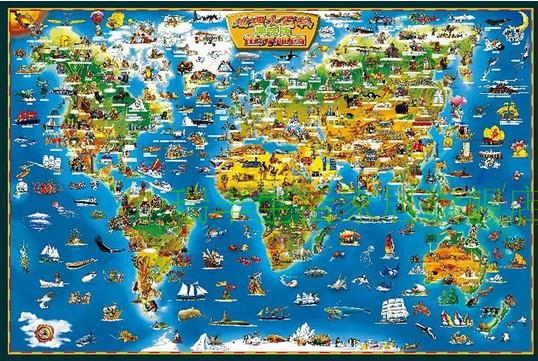 BEST QUALITY+FREE SHIPPING wooden 1500 pieces world map puzzle-in ...