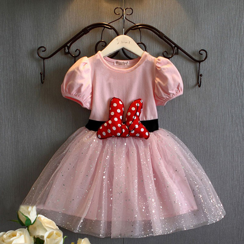 Excelente Vestidos De Fiesta Minnie Mouse Para Niños Pequeños ...