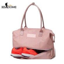 Купить с кэшбэком Sports Gym Fitness Dry Wet Separation Yoga Bag Travel Handbags For Shoes Women the Shoulder Sac De Sport Luggage Duffle XA965WD