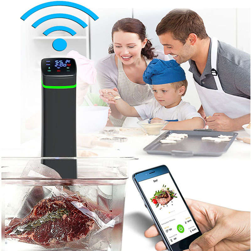 Wifi Bluetooth Control Food Sous Vide Precision cooker Low temperature slow cooking machine beef steak baking processor 220V thgs digital kitchen probe thermometer food cooking bbq meat steak turkey wine