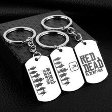 Gra Red Dead odkupienie list brelok ze stali nierdzewnej identyfikator dla psa breloki mężczyźni klucze Chaveiro moda Llaveros biżuteria