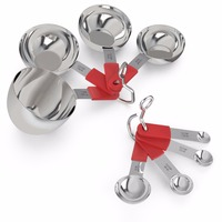Premium Stainless Steel Measuring Cups And Measuring Spoons Set Of 8 For Measuring Dry And Liquid