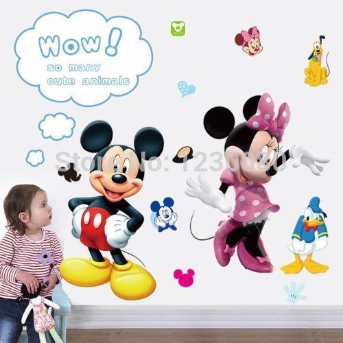 Cartoon Mickey Minnie Wall Area 4