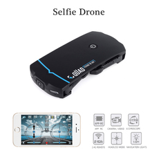 Mini Selfie Drone  Phone Control Foldable Quadcopter Micro RC Toy with HD Camera VS JY018 JXD 523 as Christmas gift