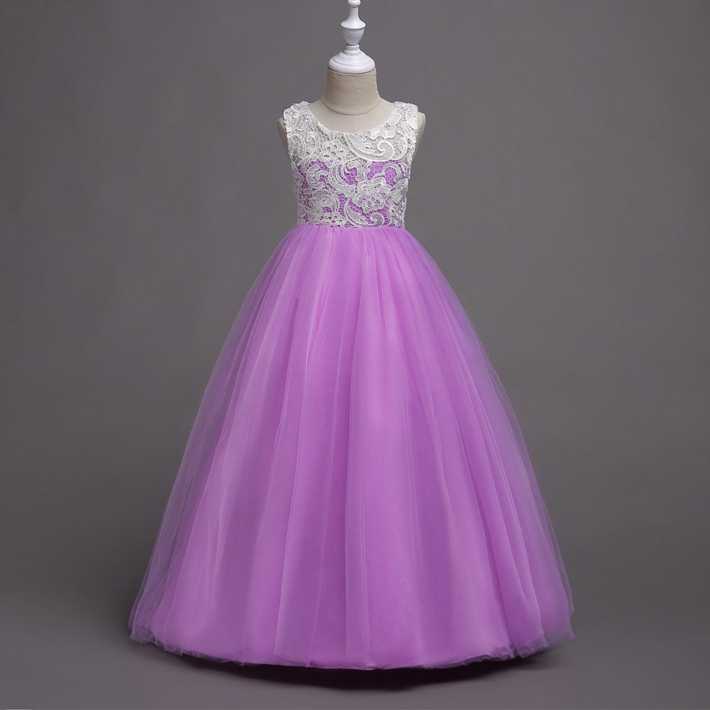 Childrens Ceremony Clothing Long Pageant Princess Prom Wedding Gowns ...