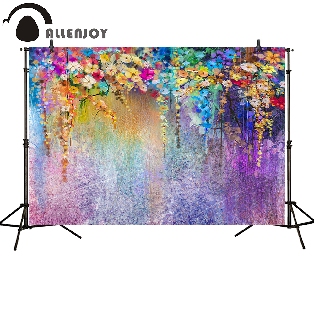 Allenjoy Photography backdrops Color abstract flower watercolor background for photo studio