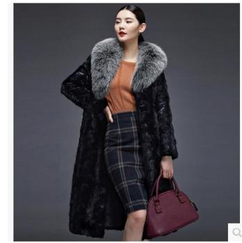 Brand New Women Long Section Faux Mink Fur Overcoats Winter And Autumn Female Clothings Fur Coats Plus Size Casual Outwear J1630