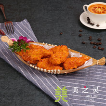 Simulation Snack Model Western Cafe Fried Chicken Leg Model Simulation Food Dish Handicraft Artificial Props Ornaments Display