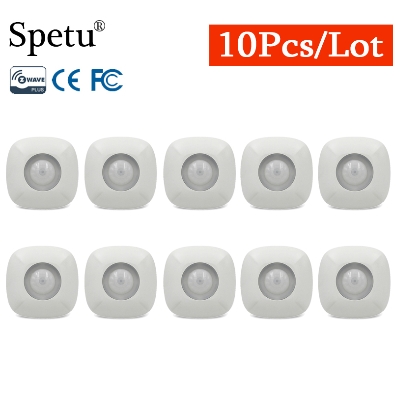 Spetu 10pcs/lot Z-Wave Infrared PIR Sensor Motion Detector Sensor Alarm Wireless  Smart Z Wave Home Automation Battery-Powered