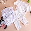 0-1 год осень зима ребенок набор ползунки нижнее белье хлопок Футболки и брюки младенца ткань для новорожденных одежда для мальчика девушки