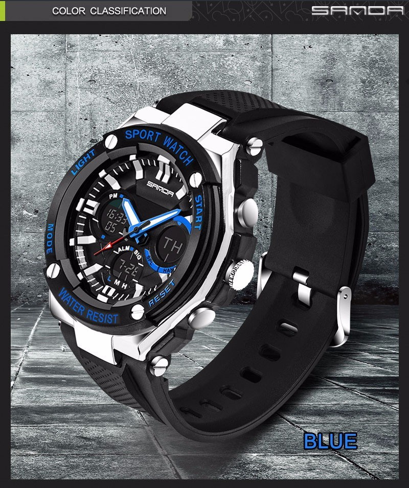 Men Sport Watch Waterproof Top Brand Luxury Military Watch LED Digital Quartz Wristwatch Relogio Masculino Reloj Hombre 2019 733 19