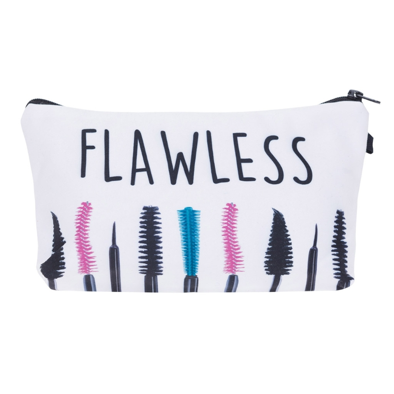 THINKTHENDO Women Fashion Casual Travel Cosmetic Polyester Bag Hand Holding Makeup Case Zipper Makeup Bags