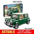 Envío libre LEPIN 21002 technic serie MINI Cooper Modelo Kits de Construcción de Juguetes de Bloques de Ladrillos Compatible With10242