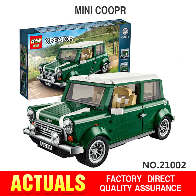 Free shipping font b LEPIN b font 21002 technic series MINI Cooper Model Building Kits Minifigures